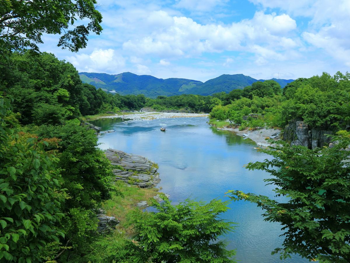 自然豊かな荒川の流れ。