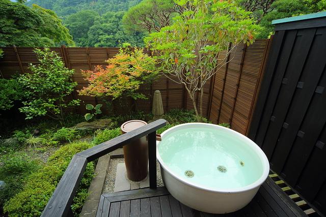 露天風呂付きのお風呂